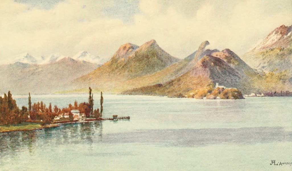 Geneva, Painted and Described - The Head of Lake Annecy, Hte. Savoie (1908)