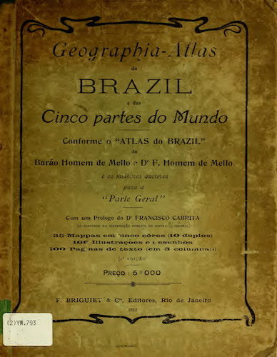 Andes - Geographia Atlas do Brazil e das Cinco Partes do Mundo