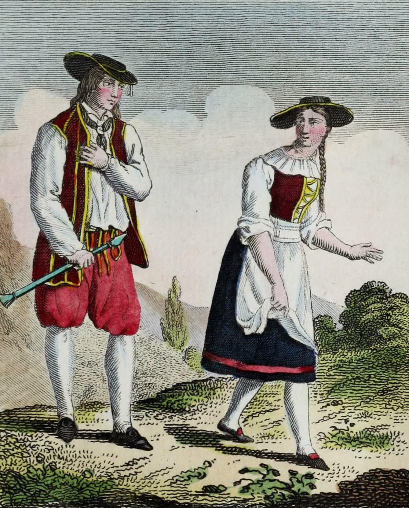 Geographie Vivante, ou, Tableaux Raisonnes - Paysans Suisses (1821)