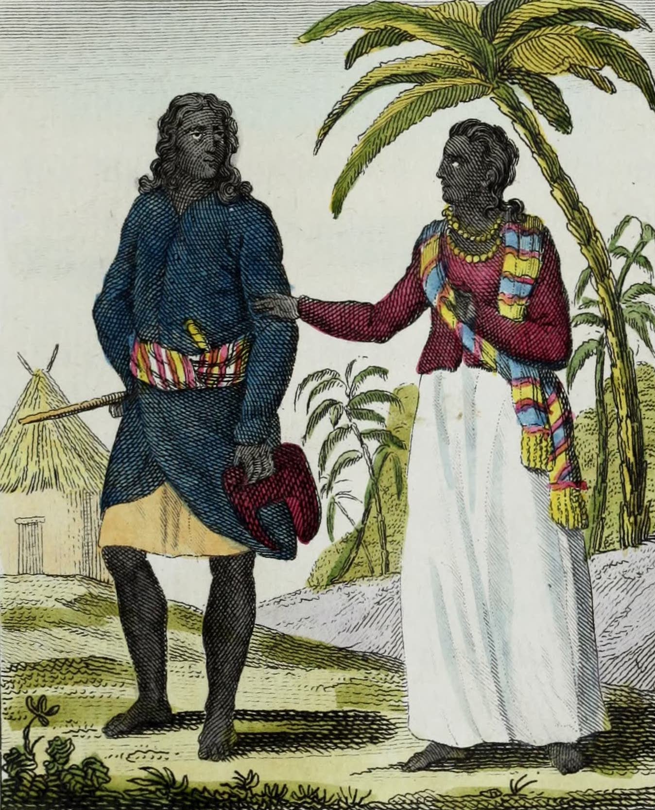 Geographie Vivante, ou, Tableaux Raisonnes - Insulaires de Ceylan (1821)