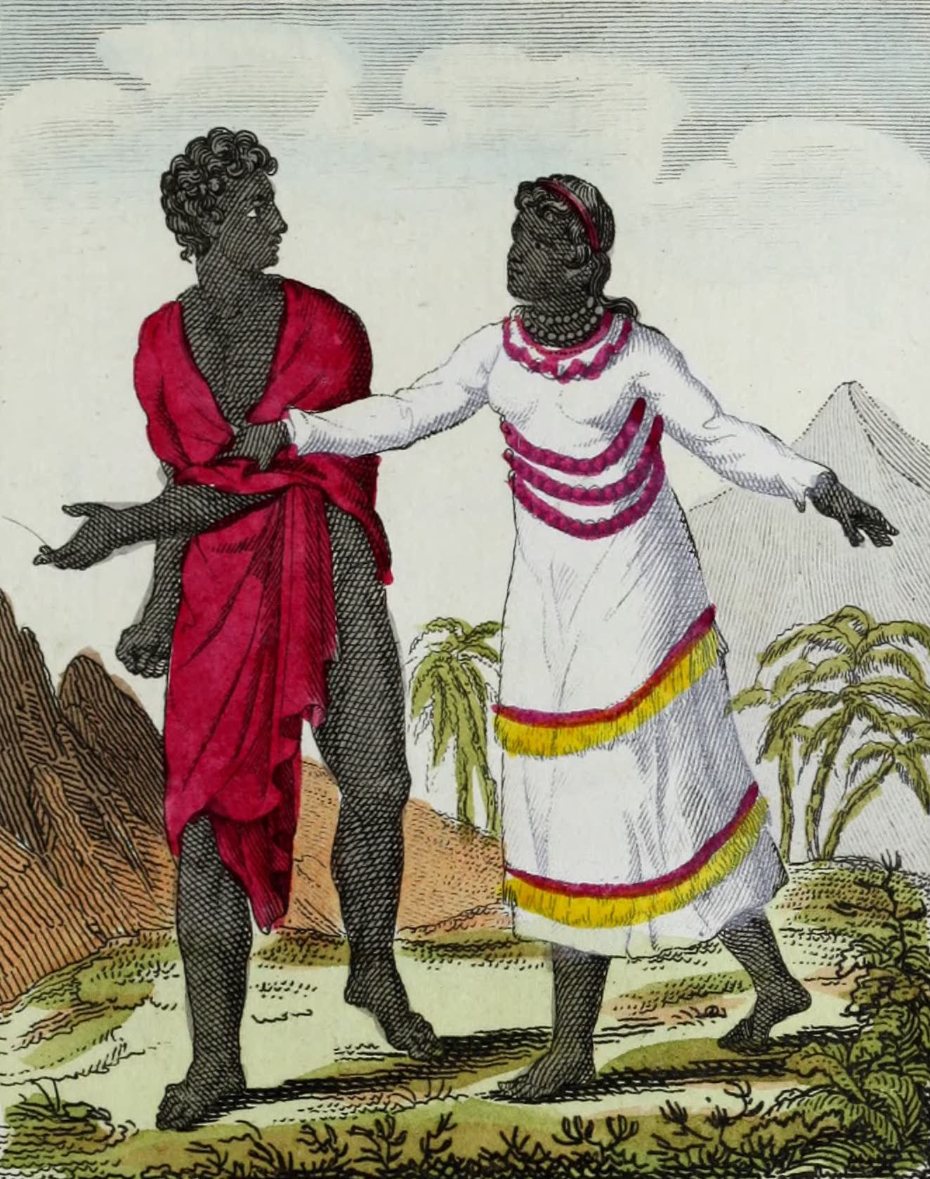 Geographie Vivante, ou, Tableaux Raisonnes - Habitans de Madagascar (1821)