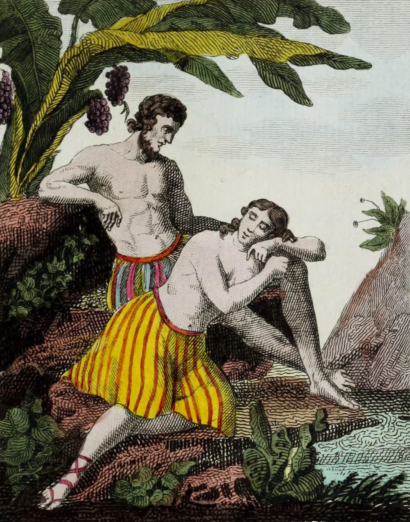 Geographie Vivante, ou, Tableaux Raisonnes - Habitans de la Guyanne (1821)