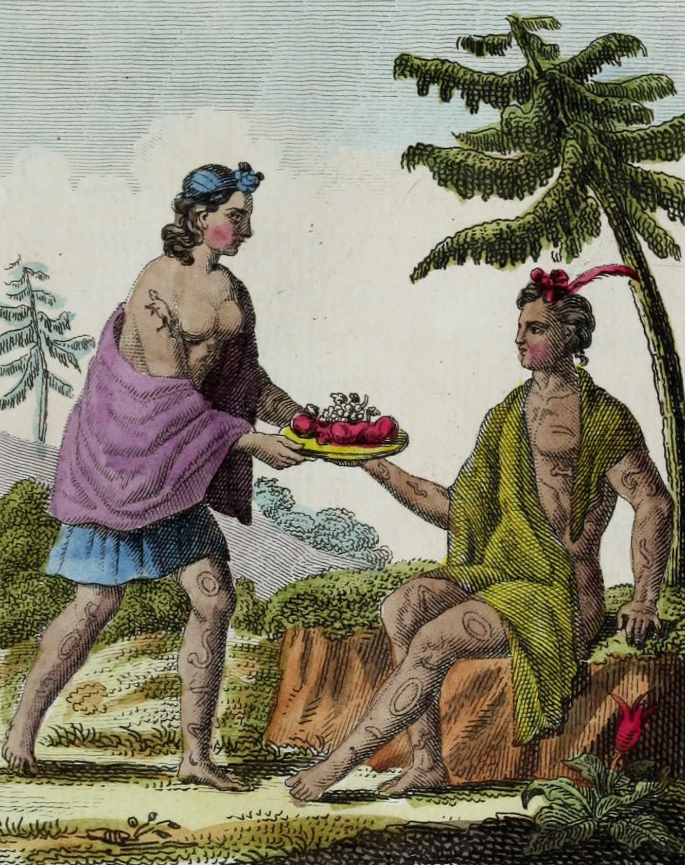 Geographie Vivante, ou, Tableaux Raisonnes - Otaitiens (1821)