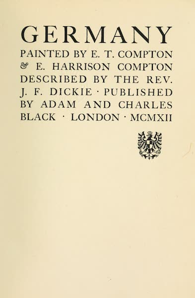 Germany, Painted and Described - Title Page (1912)