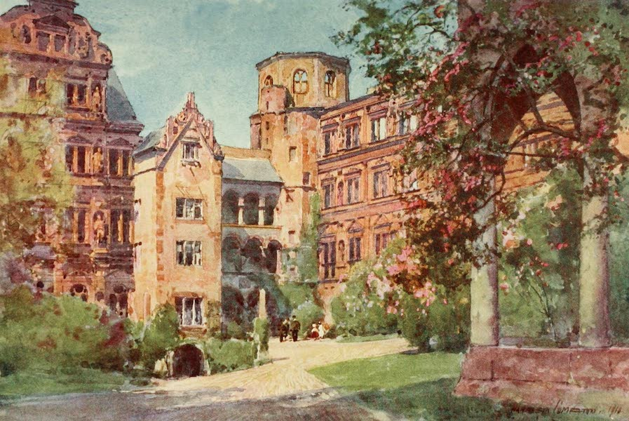 Germany, Painted and Described - Heidelberg - Castle Courtyard (1912)