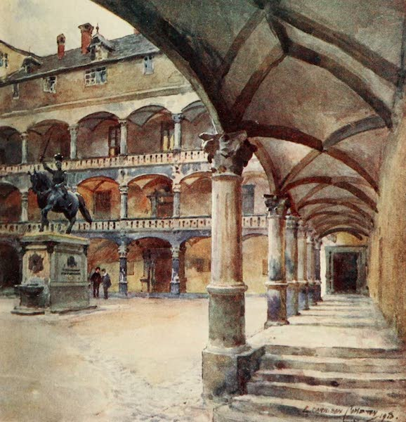 Germany, Painted and Described - Stuttgart - Courtyard of old Palace (1912)