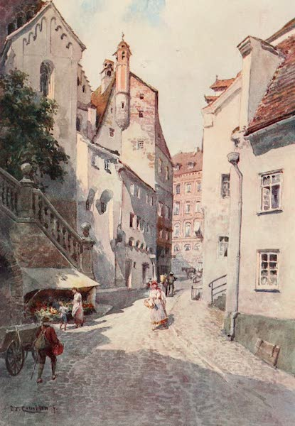 Germany, Painted and Described - Side Street in Augsburg (1912)
