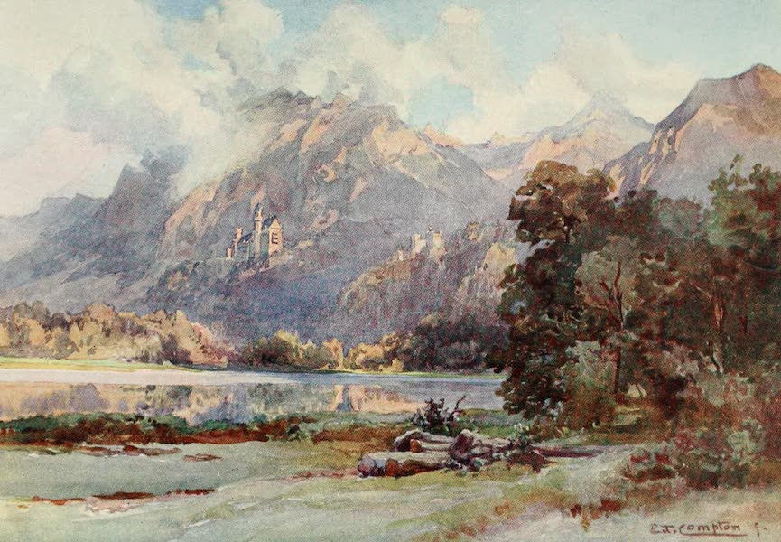 Germany, Painted and Described - Neuschwanstein and Hohenschwangau (1912)