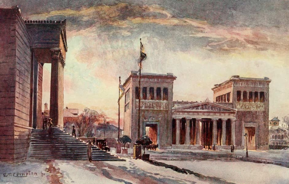 Germany, Painted and Described - Munich - Propylaen (1912)