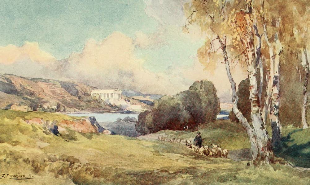 Germany, Painted and Described - Valhalla, near Ratisbon (1912)