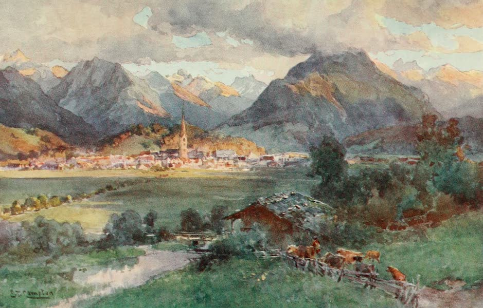 Germany, Painted and Described - Oberstdorf (1912)