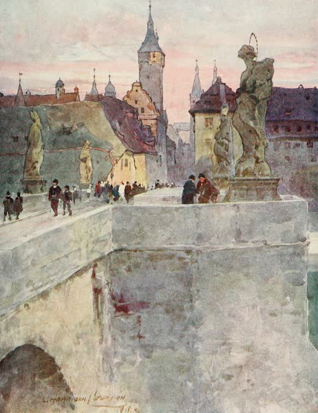Germany, Painted and Described - Wurzburg - Old Maine Bridge (1912)
