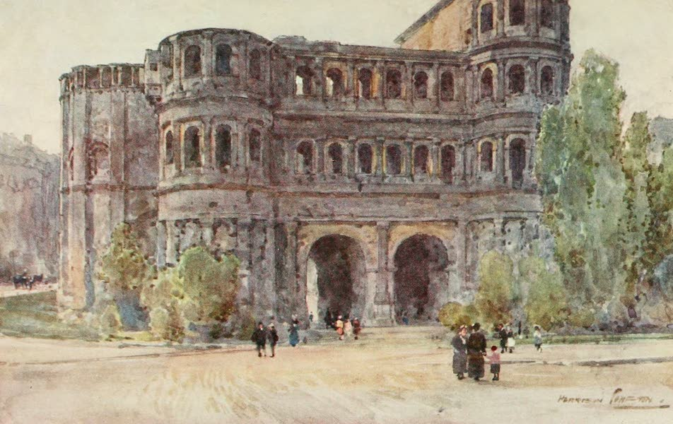 Germany, Painted and Described - Treves - Porta Nigra (1912)