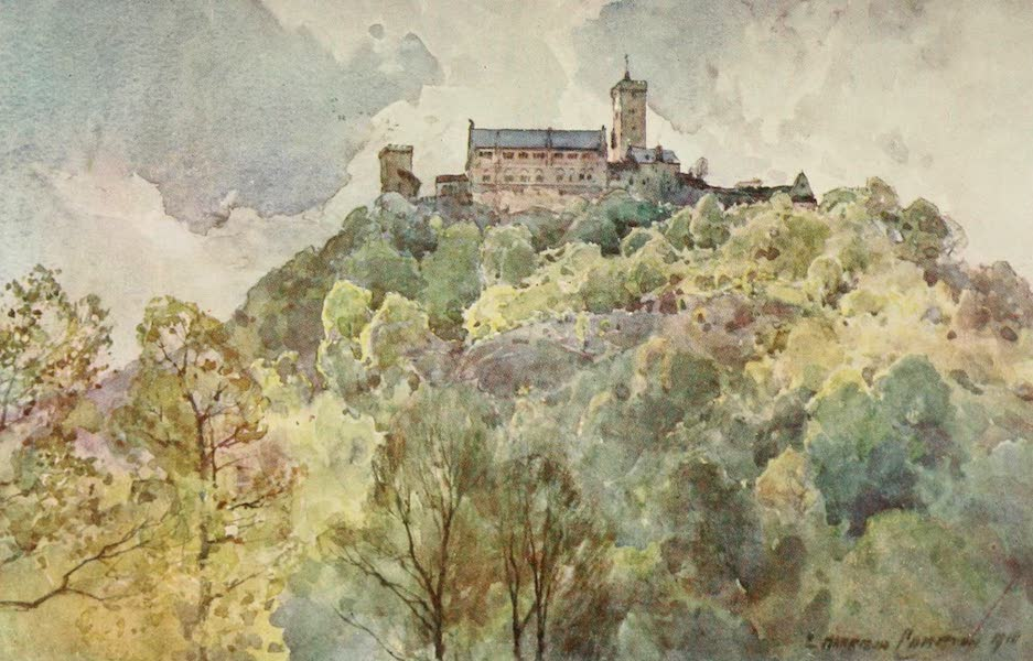 Germany, Painted and Described - Wartburg, near Eisenach (1912)