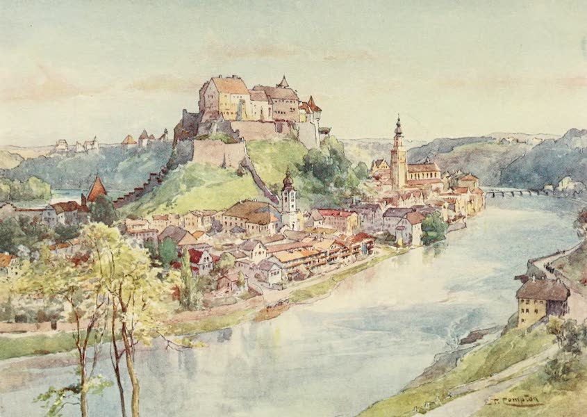Germany, Painted and Described - Burghausen on the Salzach (1912)