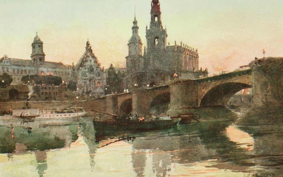 Germany, Painted and Described - Dresden - Augustus Bridge (1912)