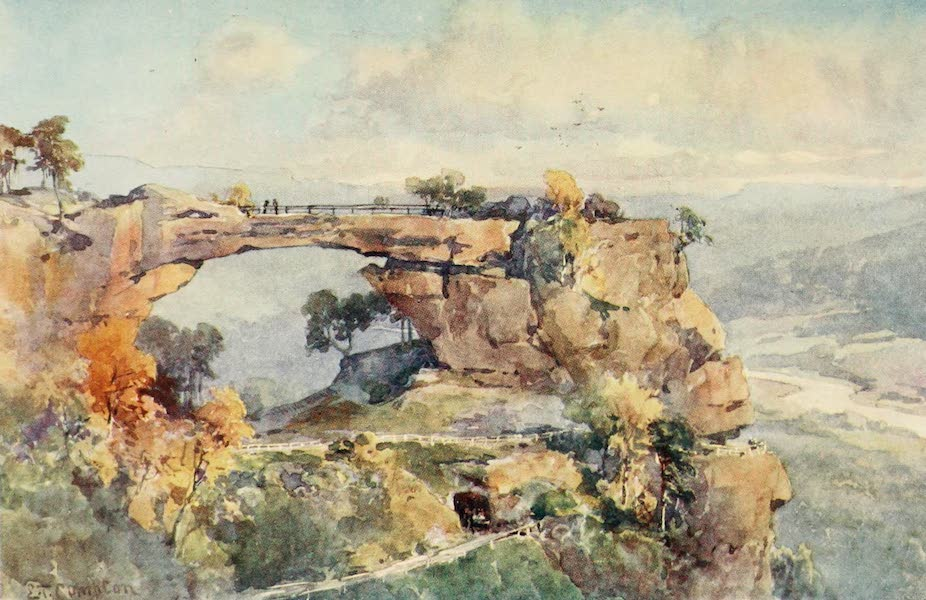 Germany, Painted and Described - Rock Scenery (Prebisch-Thor) in Saxon Switzerland (1912)