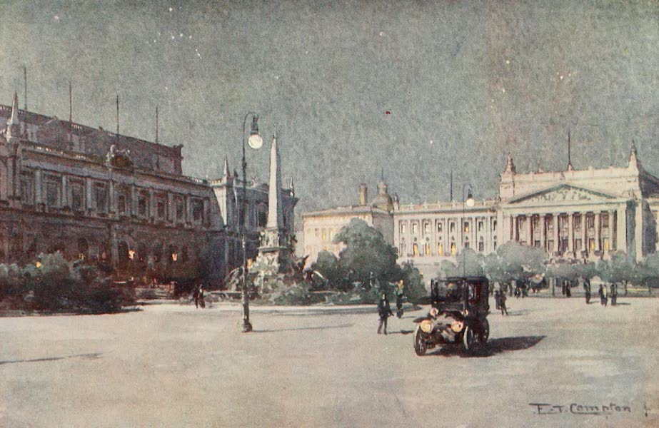 Germany, Painted and Described - Leipzig - Augustus Platz (1912)