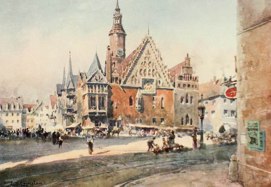 Germany, Painted and Described - Breslau - Town Hall (1912)