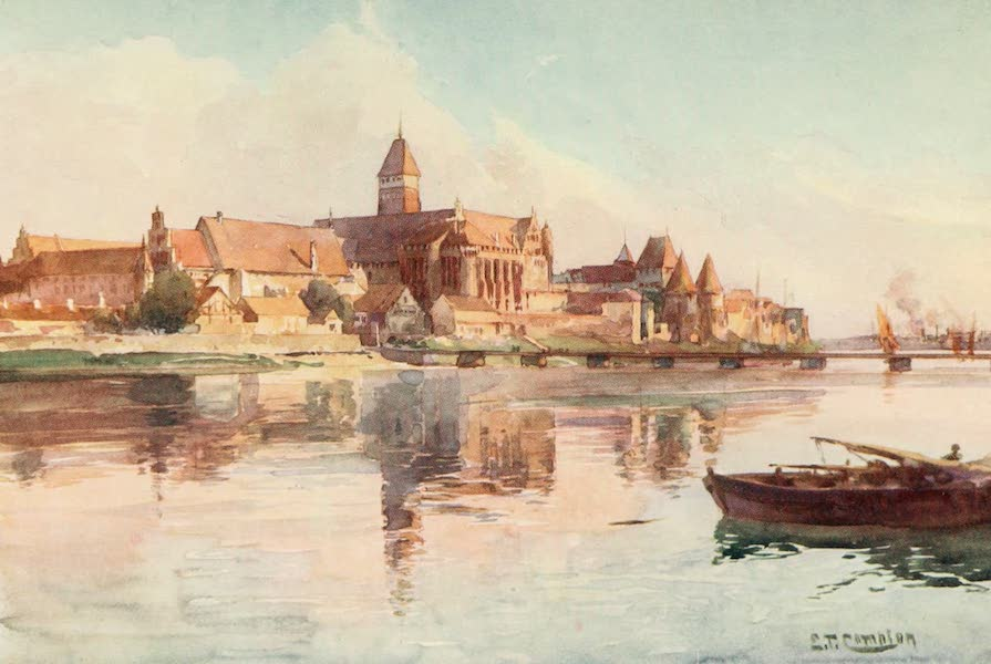 Germany, Painted and Described - Marienburg from the Nogat (1912)