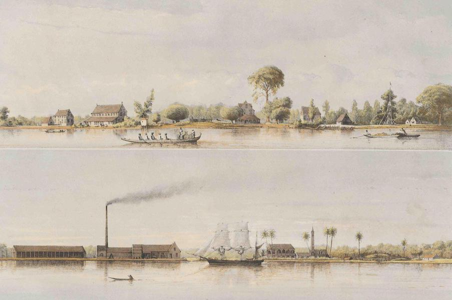 Gezigten uit Neerland's West-Indien - Suriname - Plantaadges Jagtlust en Suzanna's Daal (1860)