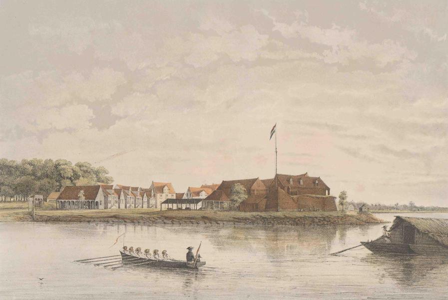 Gezigten uit Neerland's West-Indien - Suriname - Gezigt op het Fort Zelandia te Paramaribo (1860)