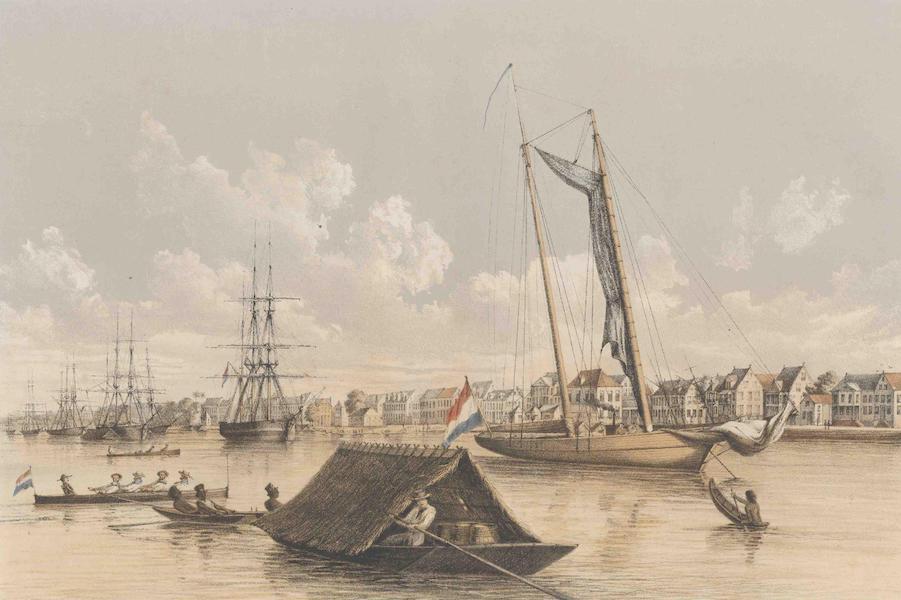 Gezigten uit Neerland's West-Indien - Suriname - Gezigt op de Waterkant en de reede van Paramaribo (1860)