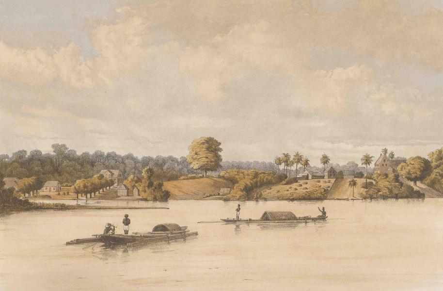 Gezigten uit Neerland's West-Indien - Post Gelderland en Joden Savannah (Rivier Zijde) (1860)