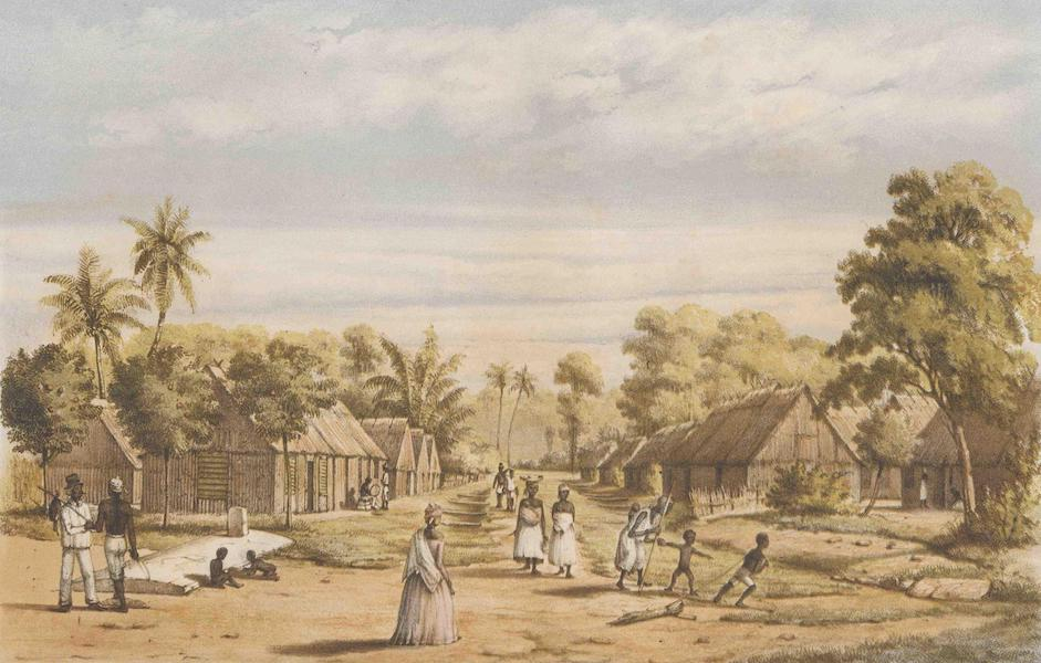 Gezigten uit Neerland's West-Indien - Suriname - Een Plantaadge Slavenkamp (1860)