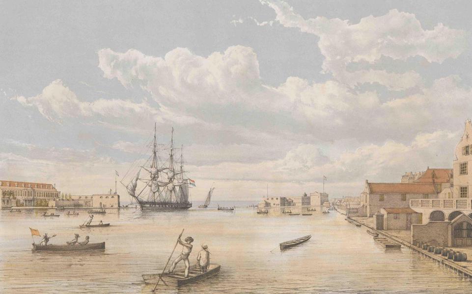 Gezigten uit Neerland's West-Indien - Het Inkomen der Haven van Curaçao (1860)