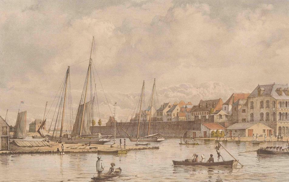Gezigten uit Neerland's West-Indien - Curaçao - Waaigat en Stadswal (1860)