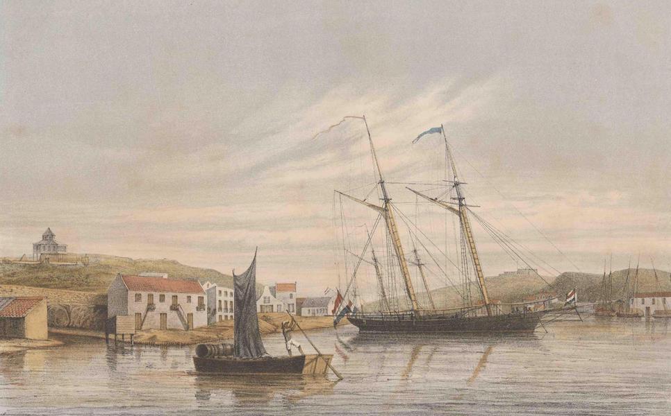Gezigten uit Neerland's West-Indien - Curaçao - Legplaats der Oorlogschepen in de Haven (1860)