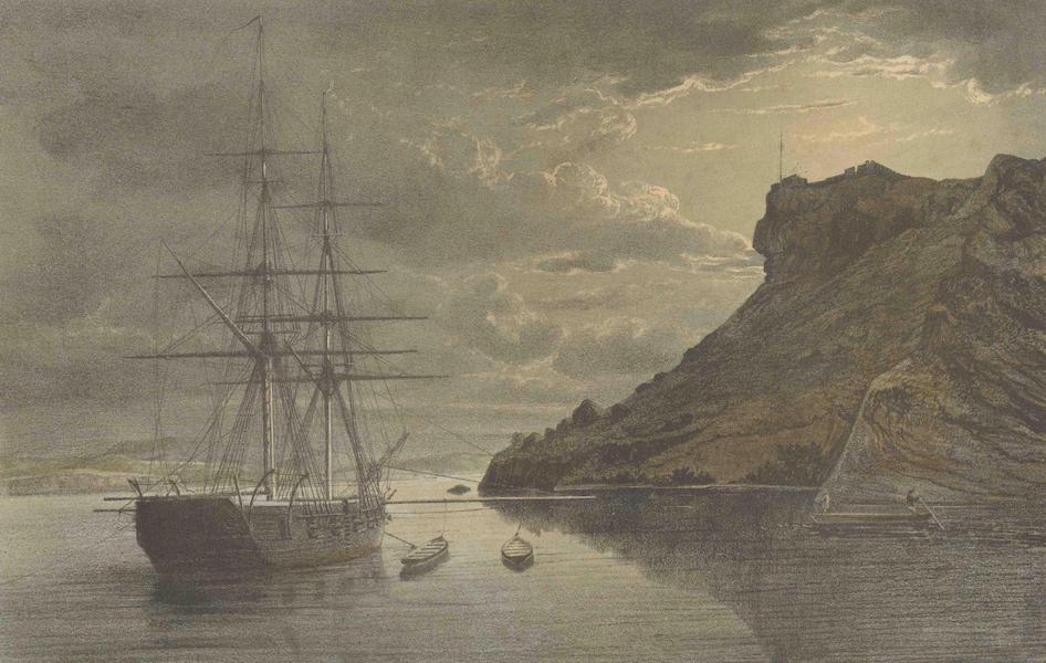 Gezigten uit Neerland's West-Indien - Curaçao - Het Fort Nassau en Een Gedeelte van Het Shcottegat (1860)