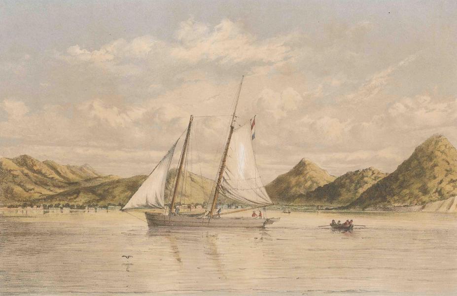 Gezigten uit Neerland's West-Indien - St. Martin - Baai en Stad (1860)