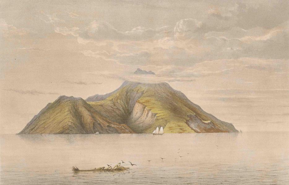 Gezigten uit Neerland's West-Indien - Saba - Op 2 Miljen Afstand in Het Westen (1860)