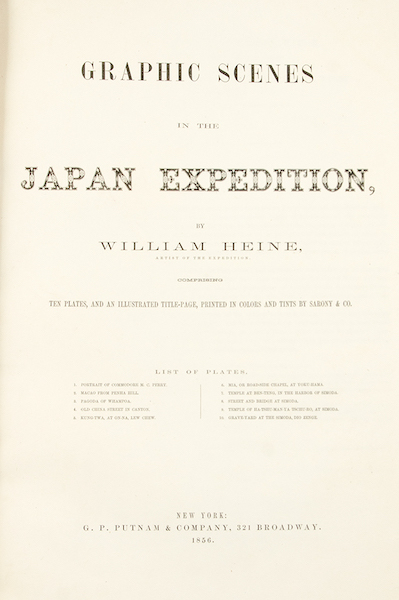 Graphic Scenes of the Japan Expedition - Title Page (1856)