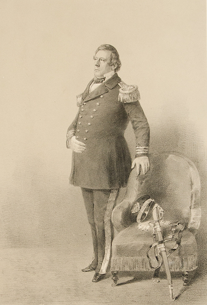 Graphic Scenes of the Japan Expedition - No. 1 - Portrait of Captain Parry (1856)