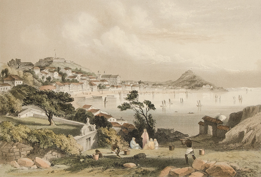 Graphic Scenes of the Japan Expedition - No. 2 - Macao from Penha Hill (1856)