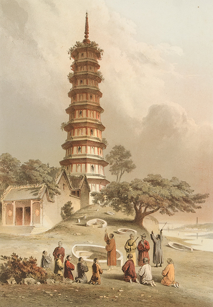Graphic Scenes of the Japan Expedition - No. 3 - Whampoa Pagoda (1856)