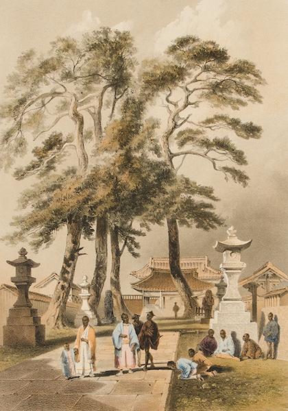 Graphic Scenes of the Japan Expedition - No. 9 - Temple of the Ha-tshu Man-ya-tshu-ro at Simoda (1856)