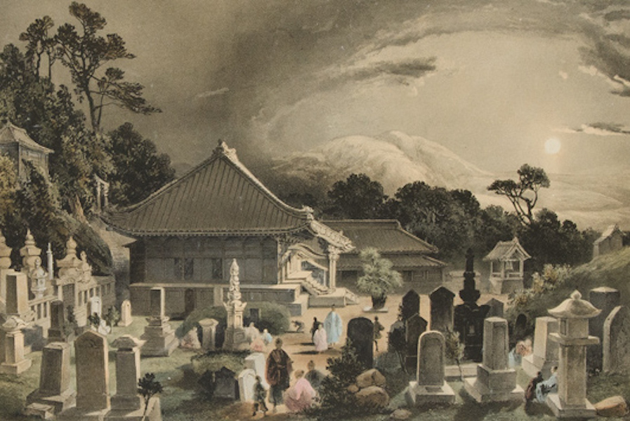 Graphic Scenes of the Japan Expedition - No. 10 - Grave yard at Simoda Dio Zenge (1856)