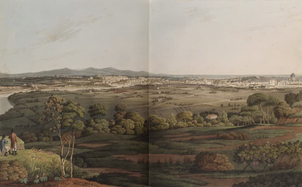 Grecian Remains in Italy - A view of Rome from Monte Mario (1812)