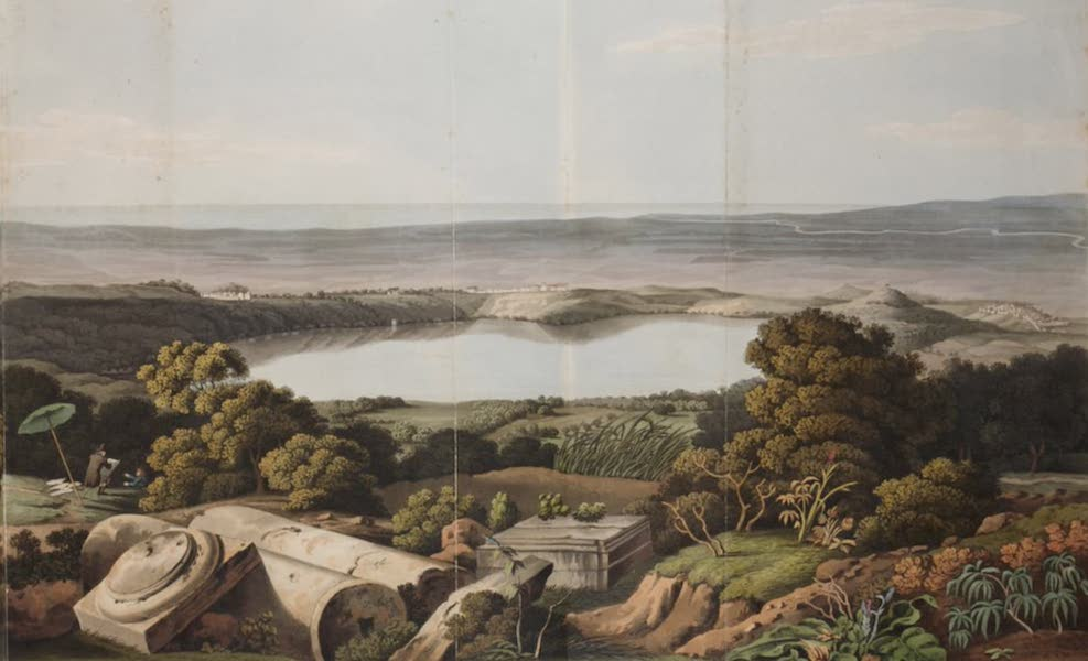 Grecian Remains in Italy - Continuation of the View from the summit of Monte Cavo (1812)