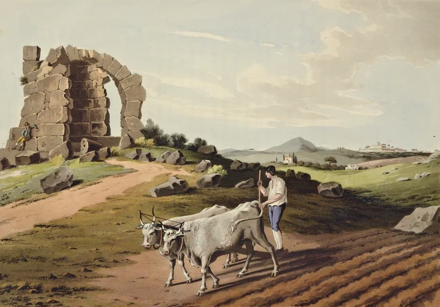 Grecian Remains in Italy - View of an Ancient Tomb near the Scite of Bovilloe (1812)