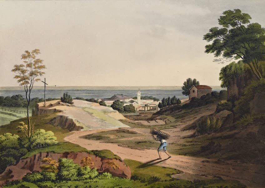 Grecian Remains in Italy - Albano from the Road to the Lake (1812)
