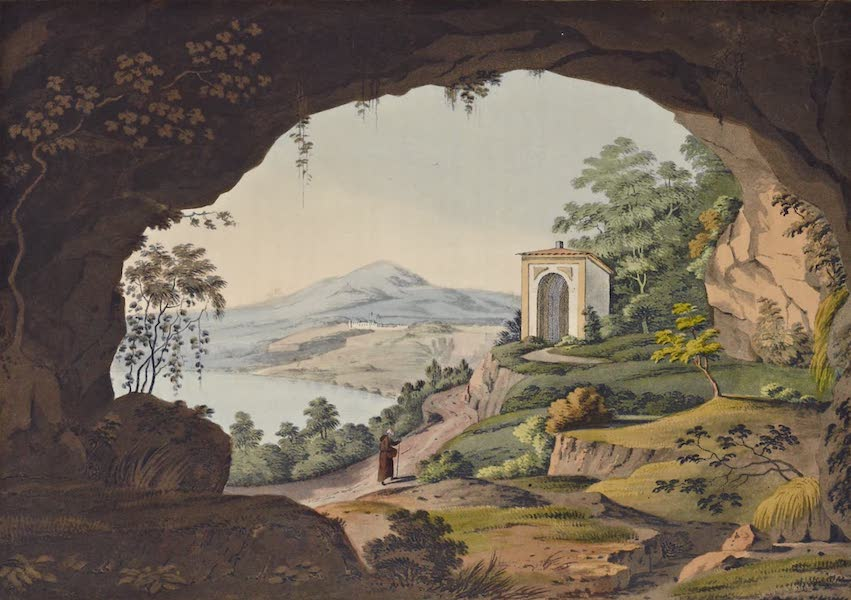 Grecian Remains in Italy - View from the Grotto of the Convent of the Capuchins at Albano (1812)