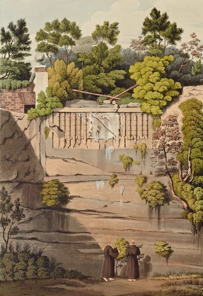 Grecian Remains in Italy - Ancient Tomb in the Garden at Pallazuola (1812)
