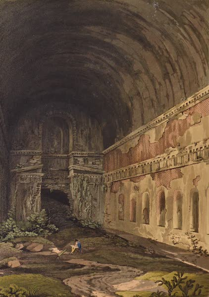 Grecian Remains in Italy - Nymphoeum on the Borders of the Lake of Albano (1812)
