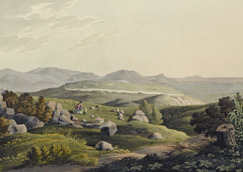 Grecian Remains in Italy - General view of the Scite of the ancient City of Norba (1812)