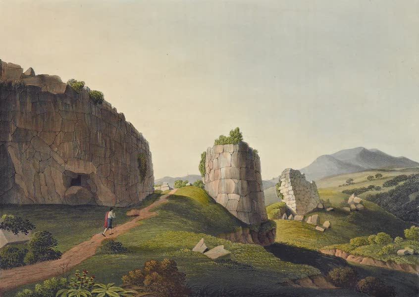 Grecian Remains in Italy - Exterior of the Great Cyclopian Gate at Norba (1812)